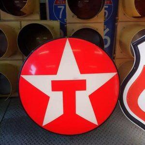 enseigne originale de station service americaine de la marque texaco 73cm lighted