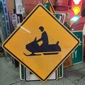 panneau de signalisation routiere americain avertissement water motor cars 76x76cm