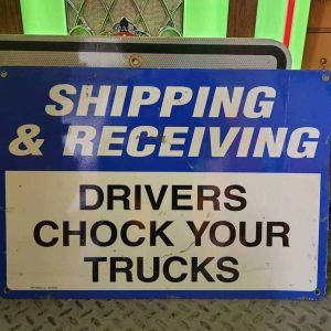 panneau de signalisation routiere americain stop trucker 50x36cm