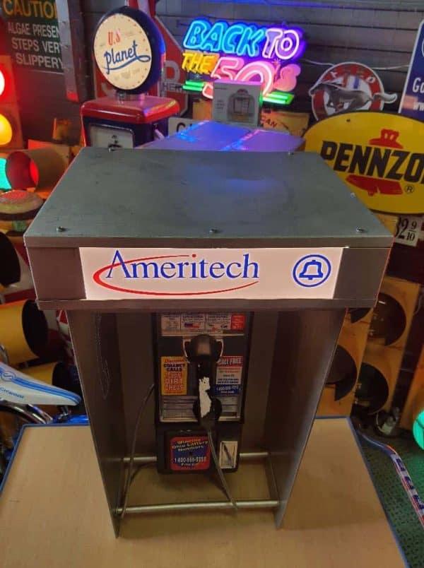 cabine murale payphone 1970 ameritech 16