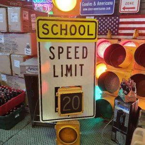 feux panneau routier school speed limit ohio 1996 goodies 10