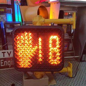 feu pieton pedestrian avec sequenceur, affichage a leds pieton, main, rebours b 6