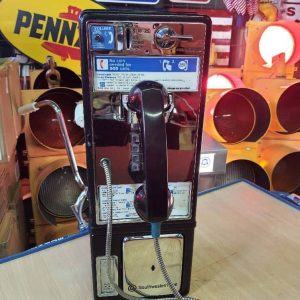 payphone de rue americain vintage . originaux 1