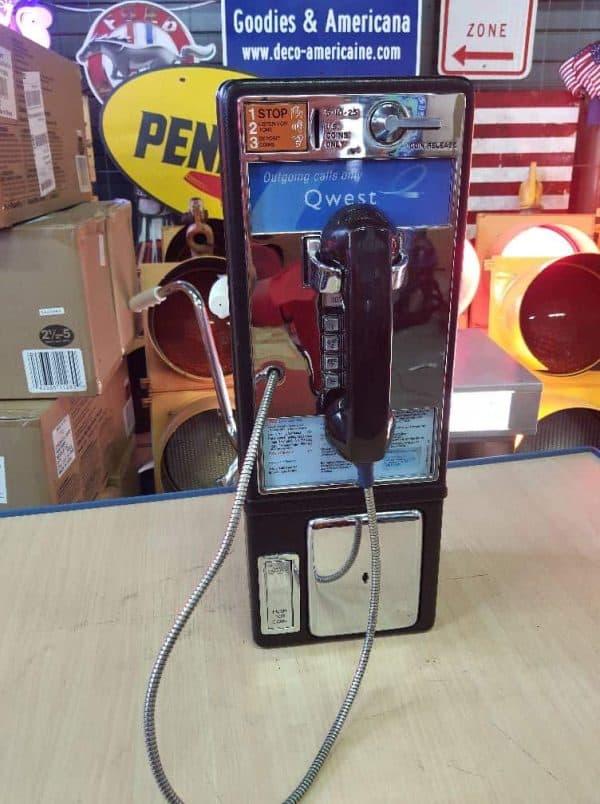 payphone de rue americain vintage . originaux 5