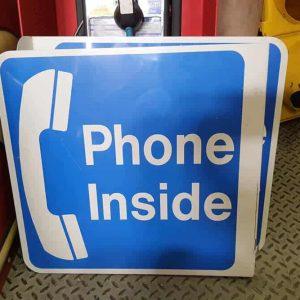 panneau phone inside de restaurant ou de magasin americain double face goodies vintage 47x48cm 1