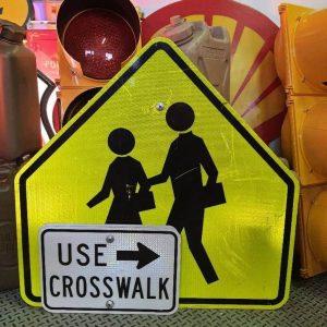 panneau routier américain, use crosswalk réfléchissant et panneau pieton lot à vendre