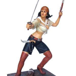 pirates femme pirate combattant avec son épée et son pistolet
