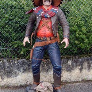 Western - Statue de Cowboy Mexicain