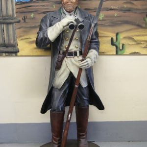 Western - Statue de Soldat Confedere