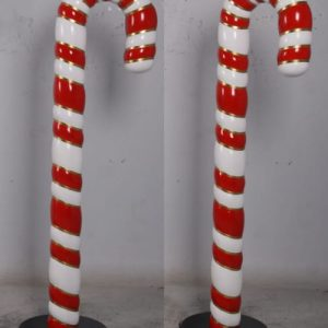NOEL - Canne à sucre de Noël avec un petit filet doré